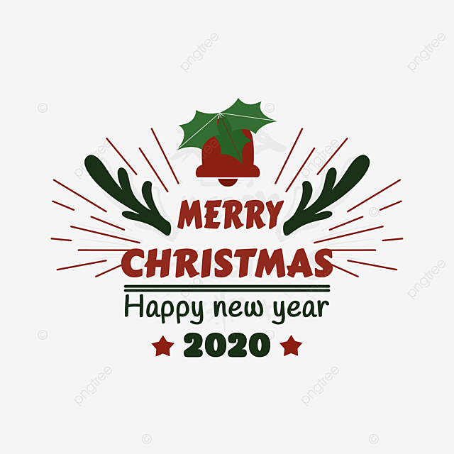 2020 New Year Christmas Blessing Creative Font Christmas