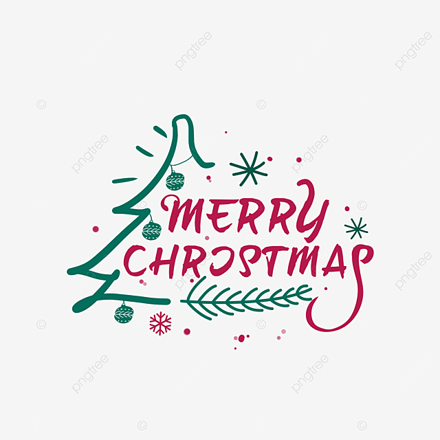 Color Creative Hand Drawn Merry Christmas Art Word Merry