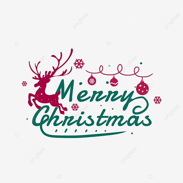 Hand Drawn Creative Merry Christmas Art Word Merry