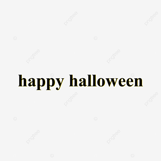 Black And Yellow Happy Halloween Font Three Dimensional Overlay Png Font Effect For Free Download