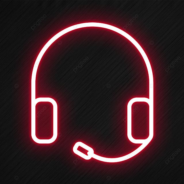 Headphones Icon In Neon Style, Audio, Black, Headset PNG