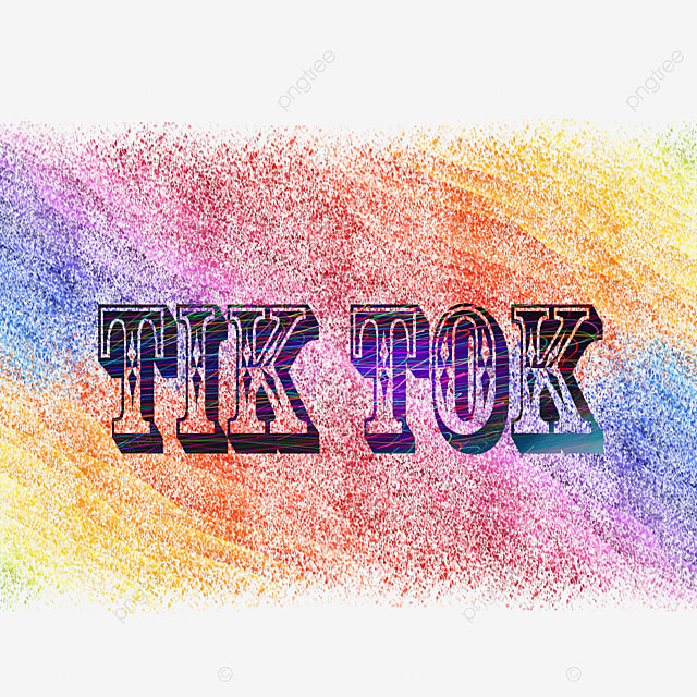 Tik Tok 3d Multi Color Font Text Effect PSD For Free Download