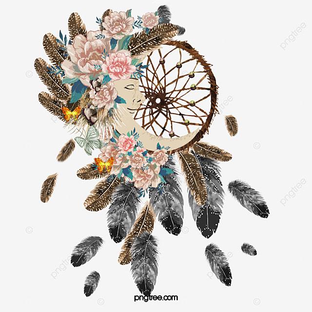 波西米亞風格手繪捕夢網, 波西米亞風格, 水彩, 手繪 PNG和PSD圖片素材