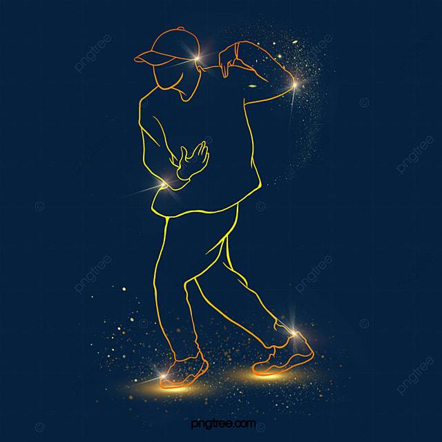 gold powder light effect street dance dancer