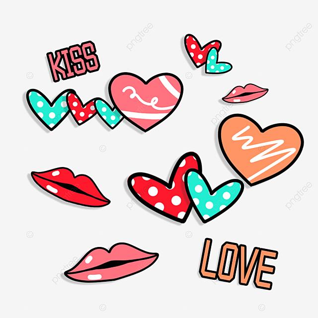 cute loving red lips sticker