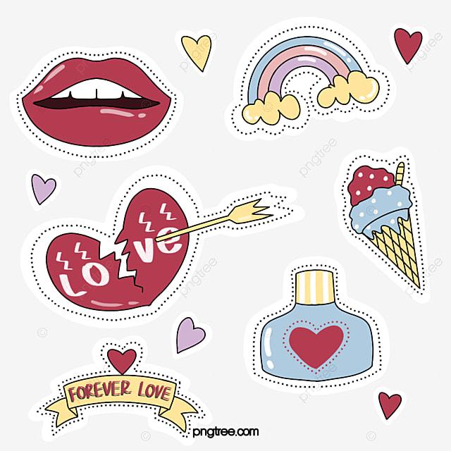 fresh love red lips sticker