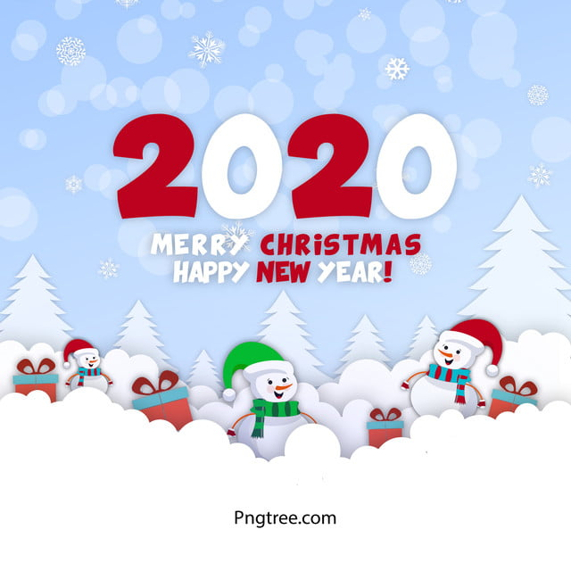 happy 2020 new year banner christmas card 2020 calendar year png transparent clipart image and psd file for free download pngtree