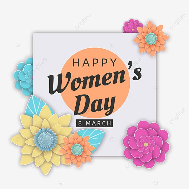 beautiful fresh flowers women s day decoration card