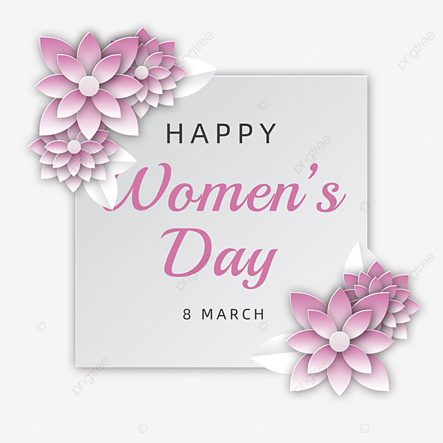 beautiful pink flowers celebration women s day card