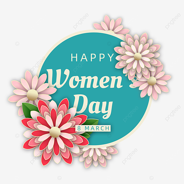 blue bouquet women s day celebration card