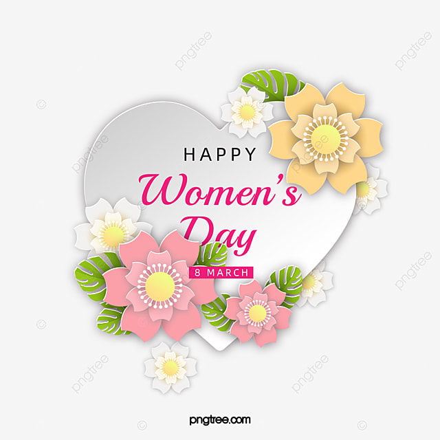 caring womens day floral card