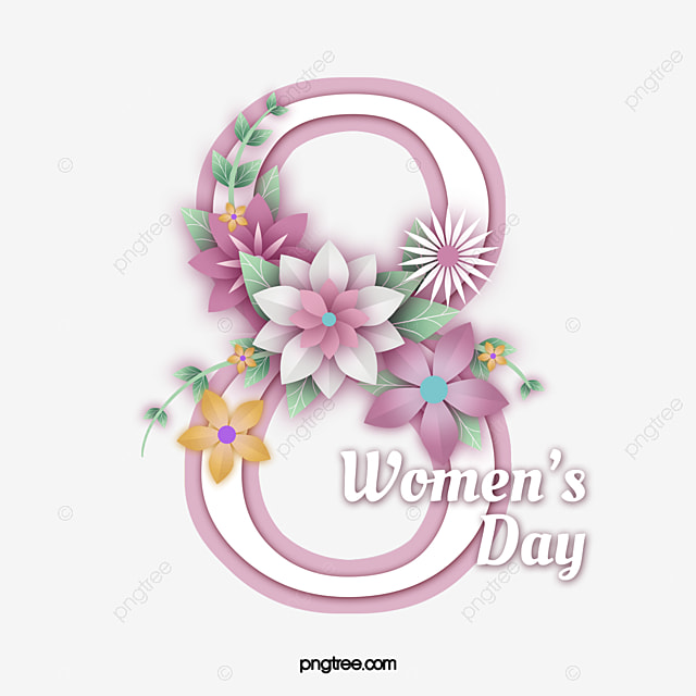 creative 8 word women s day flower plant card