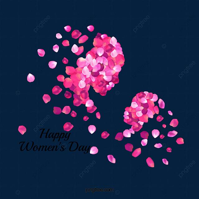 creative women s day petal image