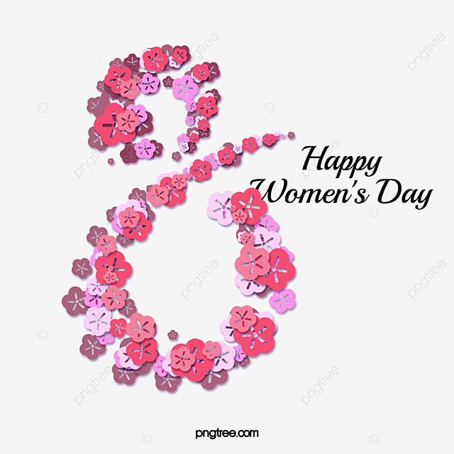 womens day petal art word