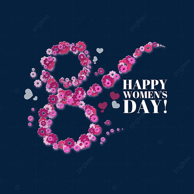 women s day petal image decoration