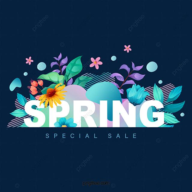 spring plant flower illustration promotion decoration