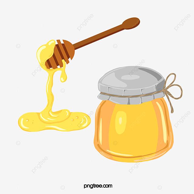 honey dripping from a honey jar