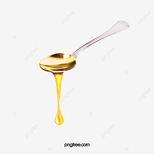 yellow spoonful of honey dripping elements