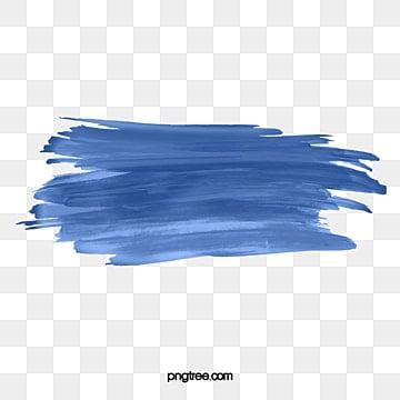 следы краски синей кистью, синий клипарт, кисть чернила, Синяя акварель PNG и PSD