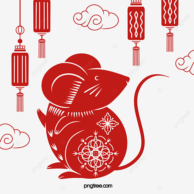 rat year red classical little mouse
