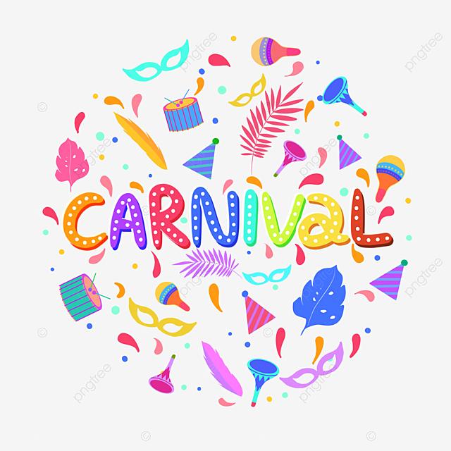 hand drawn carnival illustration creative elements
