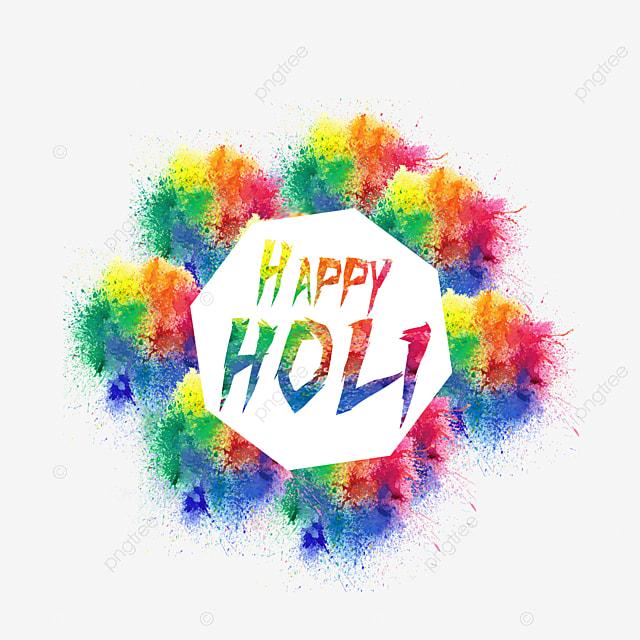 happy holi colorful splatter color