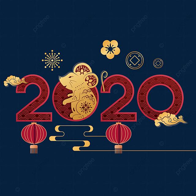 2020 year of the rat auspicious decoration