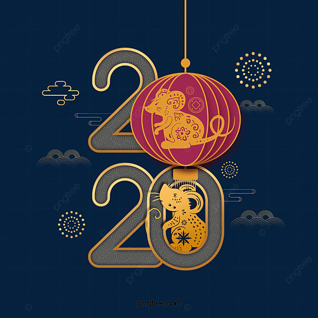 happy chinese new year in the year of the rat 2020