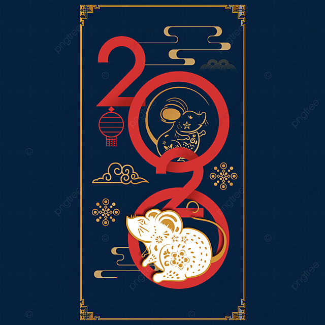 year of the rat 2020 traditional decoration