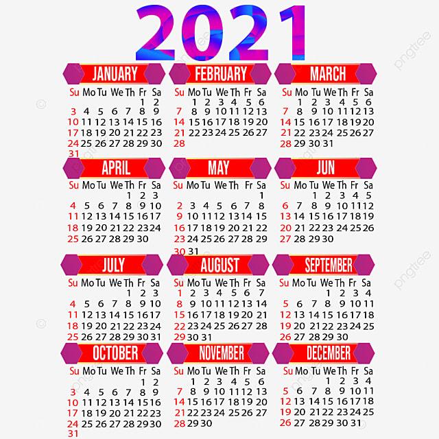 Anno 2021 Design Del Calendario Creativo, 2021, Calendario 2021