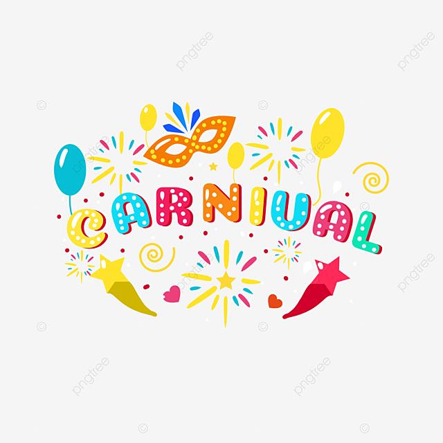colorful cartoon handwritten carnival creative elements