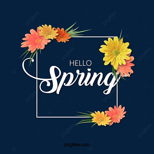 spring flower spring element