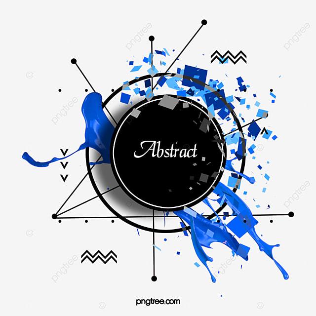 blue creative texture border