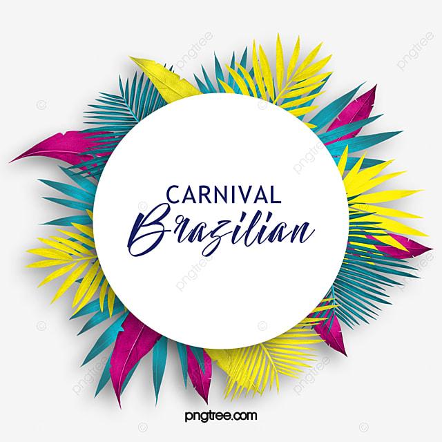 colored tropical plants brazilian carnival celebration