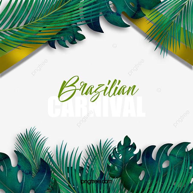 green brazilian carnival celebration border