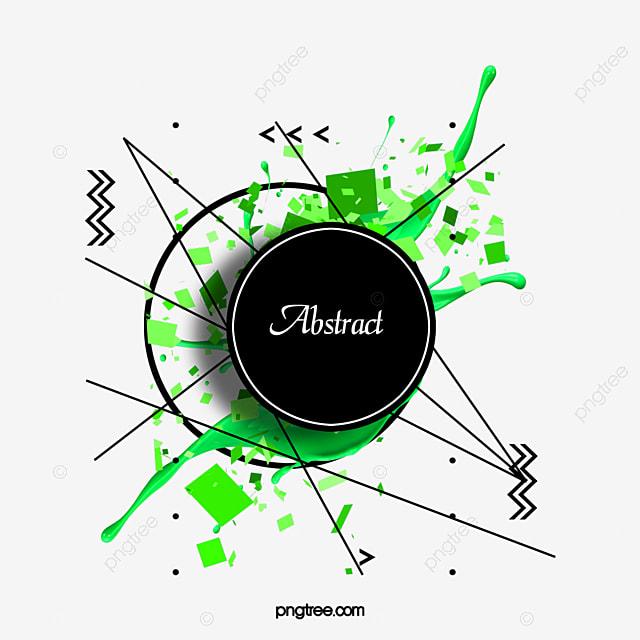 green creative abstract border