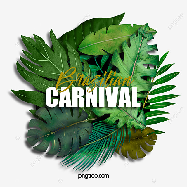 green tropical plants brazil carnival celebration