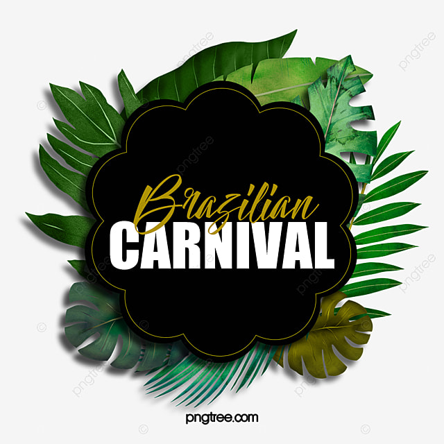 green tropical plants brazil carnival