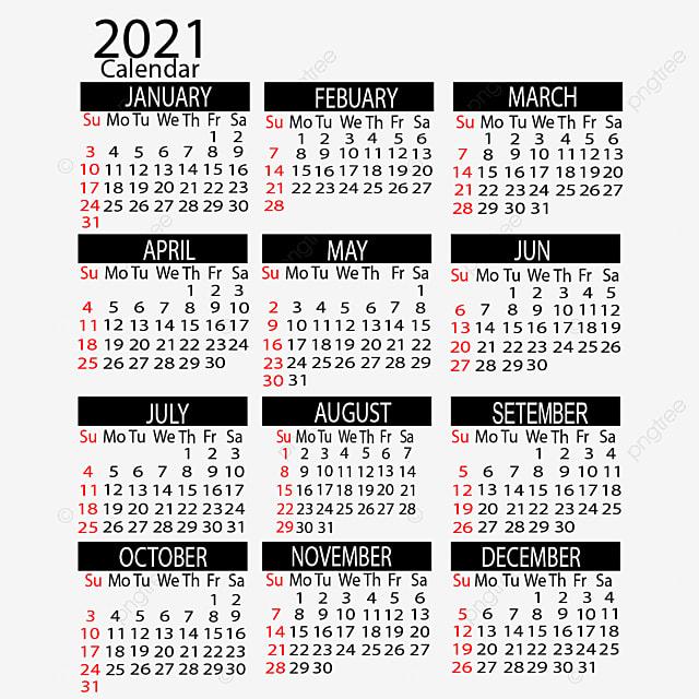 2021 Year Calendar Vertical Design, Calendar, 2021, Creative PNG