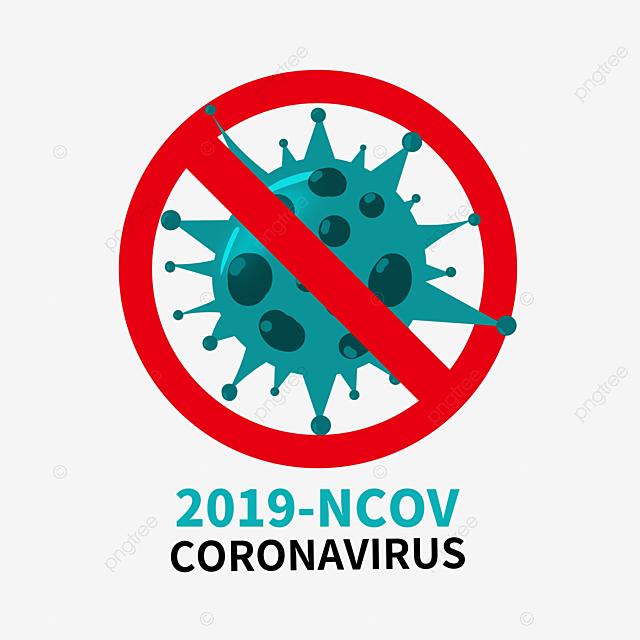 hand drawn cartoon 2019 ncov virus elements