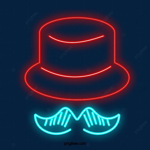 kumis topi berwarna neon lampu neon cahaya warna png transparan gambar clipart dan file psd untuk unduh gratis kumis topi berwarna neon lampu neon