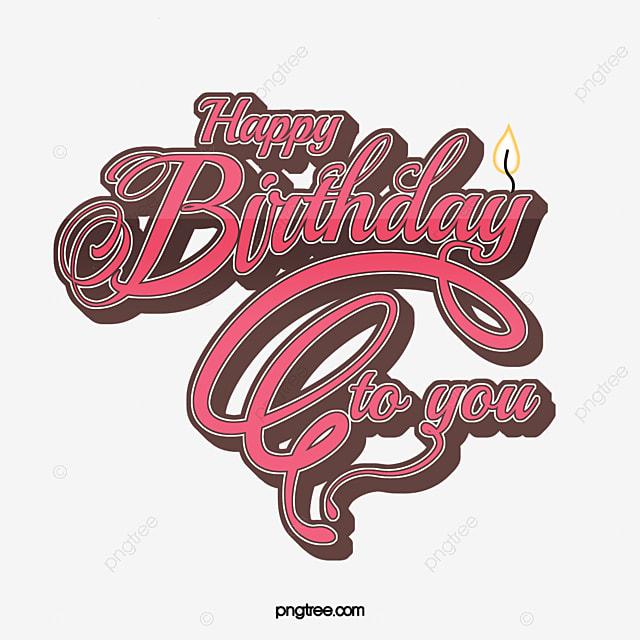 art happy birthday font