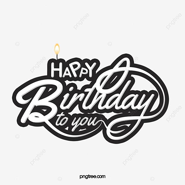 black and white creative birthday font