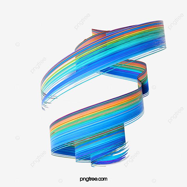 blue gradient 3d brush