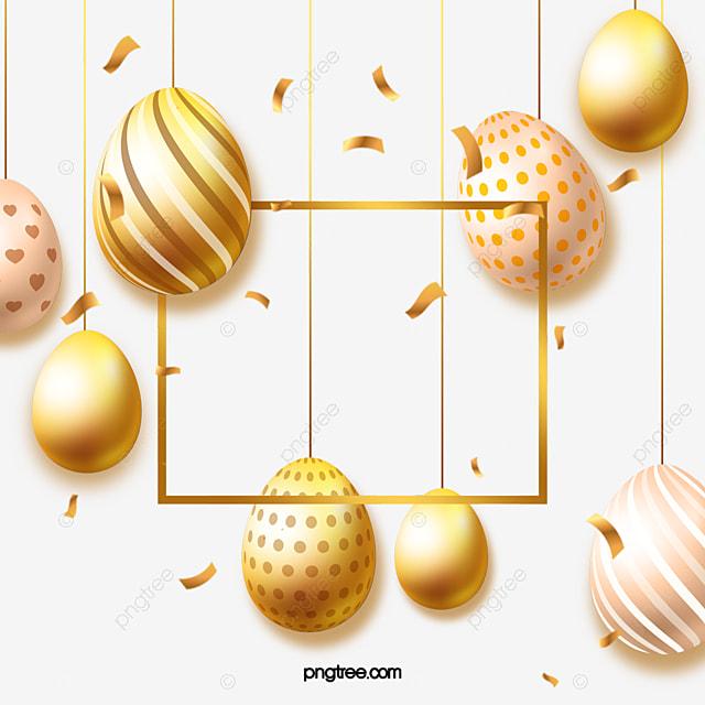 easter golden striped eggs