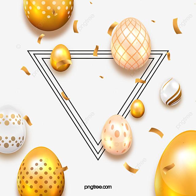 easter three dimensional golden pattern egg