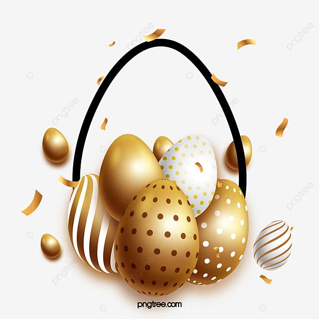 exquisite golden striped decorative eggs