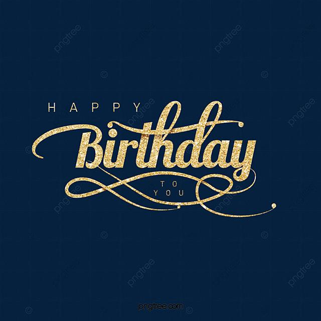 golden creative happy birthday font