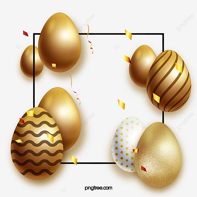 golden easter textured egg