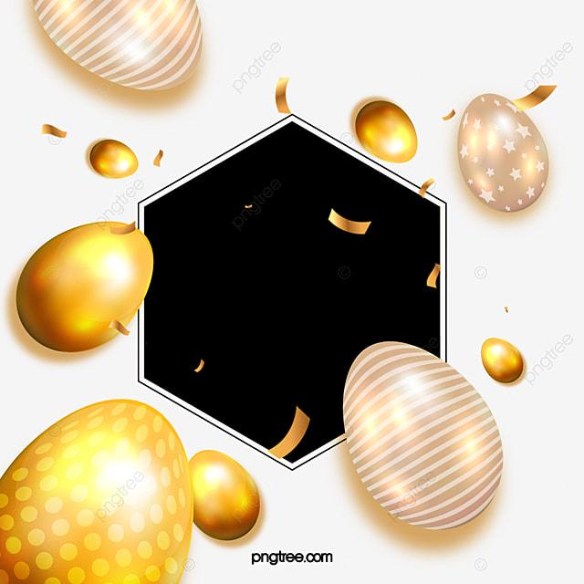 golden shining easter egg